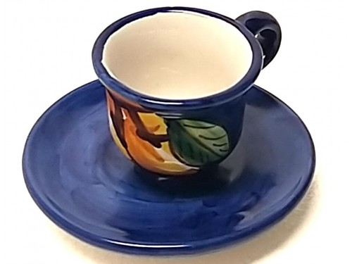 Tazzina caffè con piattino Limoni blu