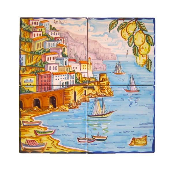 Set 4 tiles Amalfi
