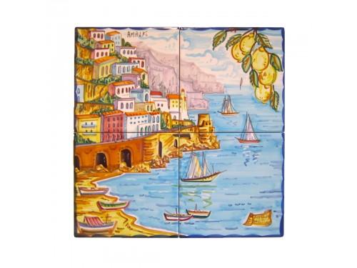 Set 4 Mattonelle Amalfi