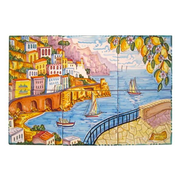 Set 6 tiles Amalfi
