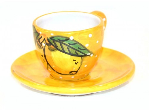 Espresso Cup & Saucer Lemon snow yellow