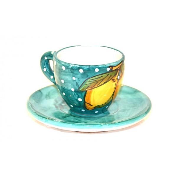 Espresso Cup & Saucer Lemon snow green