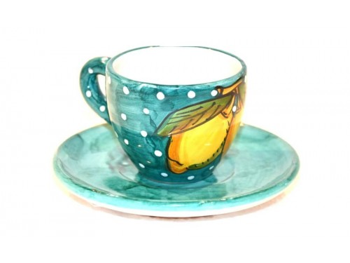 Espresso Cup & Saucer Lemon snow green