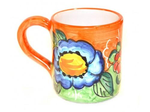 Bicchiere Limoni Fiori arancione