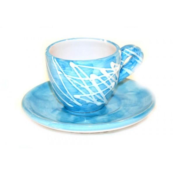 Espresso Cup & Saucer modern light blue