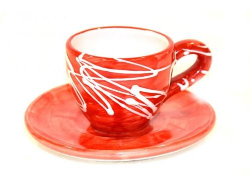 Espresso Cup & Saucer modern red