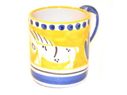 Bicchiere asino giallo