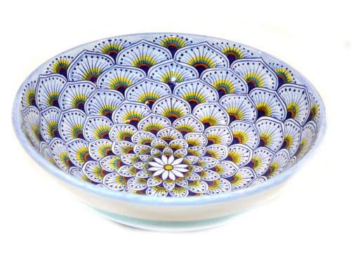 Round Bowl Peacock purple