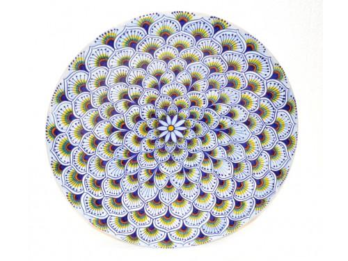 Wall Plate Peacock purple