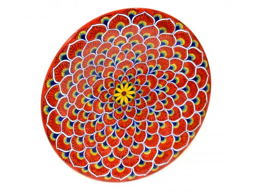 Wall Plate Peacock red