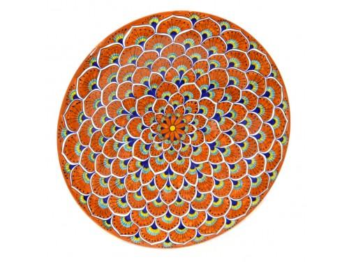Wall Plate Peacock orange