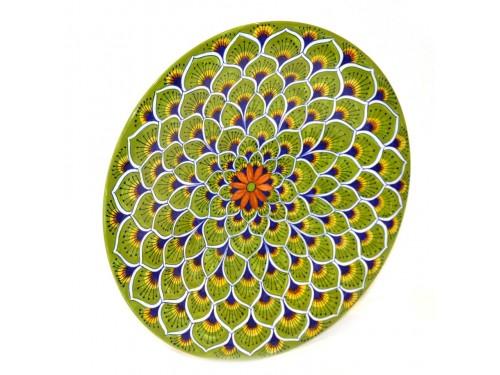 Wall Plate Peacock green