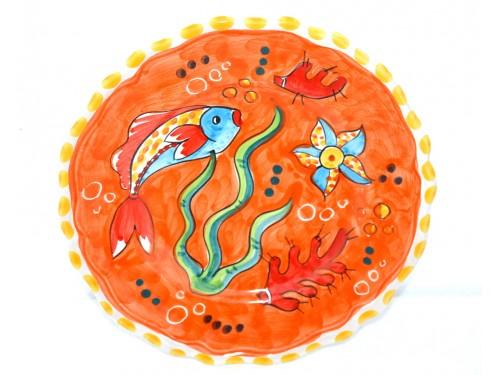 Salad Plate Fishes orange