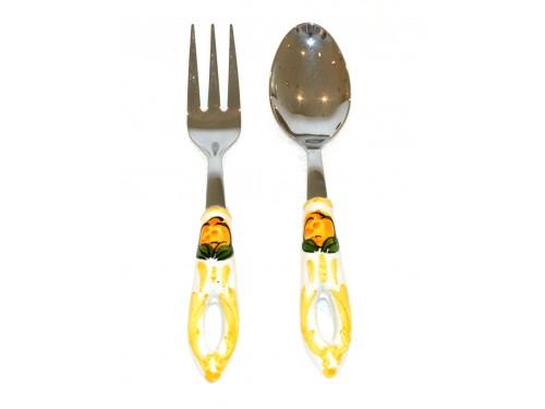 Salad Tongs Lemon yellow Steel