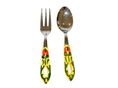 Salad Tongs chili peppers Steel