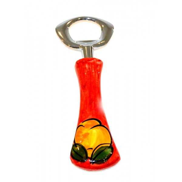 Bottle opener lemon red