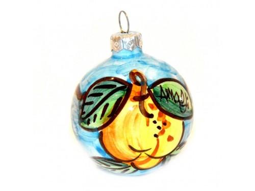 Pallina di Natale Limone celeste