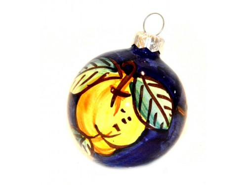 Pallina di Natale Limone blu
