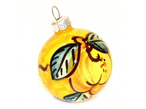 Pallina di Natale Limone giallo