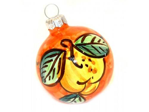 Pallina di Natale Limone arancione