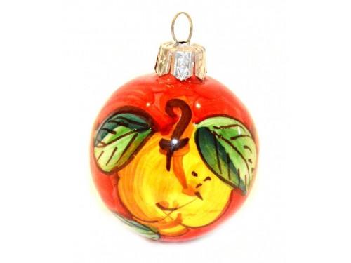 Pallina di Natale Limone rosso