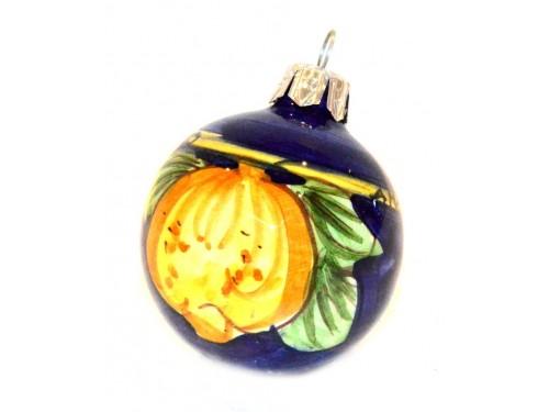 Ornament Lemon blue & yellow