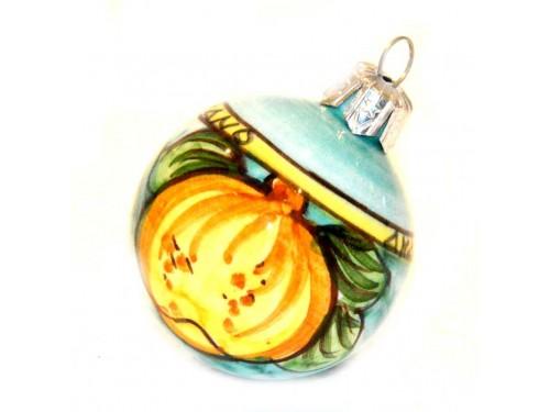 Pallina di Natale Limone verde e giallo