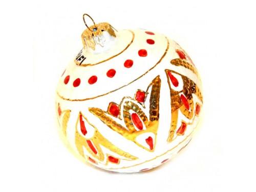 Pallina di Natale Bizantino Oro - Bianco