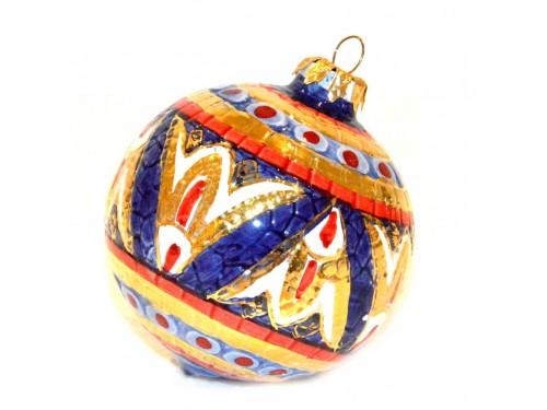 Pallina di Natale Bizantino Oro (rosso e blu)