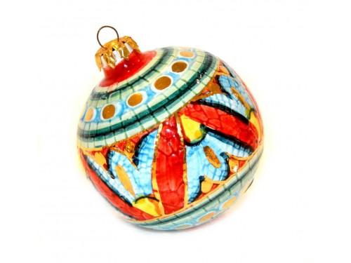 Pallina di Natale Bizantino Oro (rosso e verde)