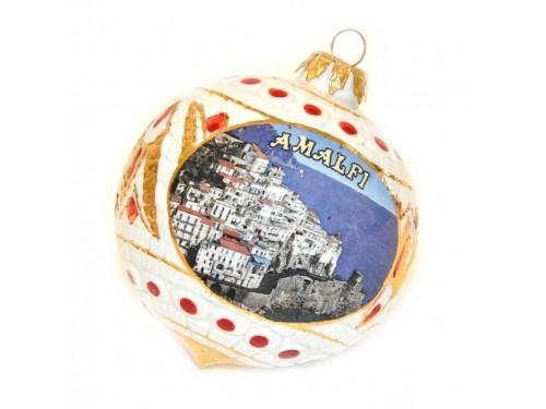 Pallina di Natale Bizantino Amalfi Bianco