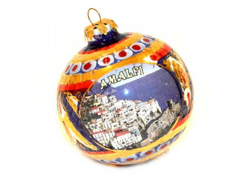 Pallina di Natale Bizantino Amalfi rosso blu