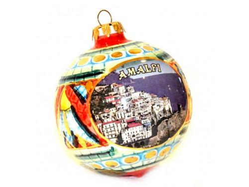 Pallina di Natale Bizantino Amalfi rosso verde