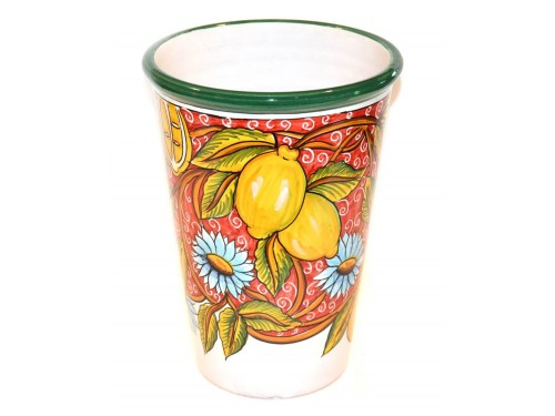 Vase - Ice Bucket Lemon Italy Red