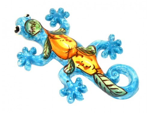 Lizard Lemon light blue (to hang)