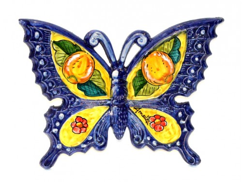 Butterfly Lemon Flower Blue to hang (from 3,55 to 8,25 inches)