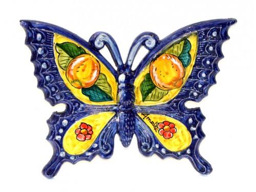 Farfalla Limoni Fiori Blu