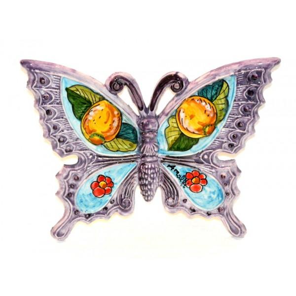 Farfalla Limoni Fiori viola