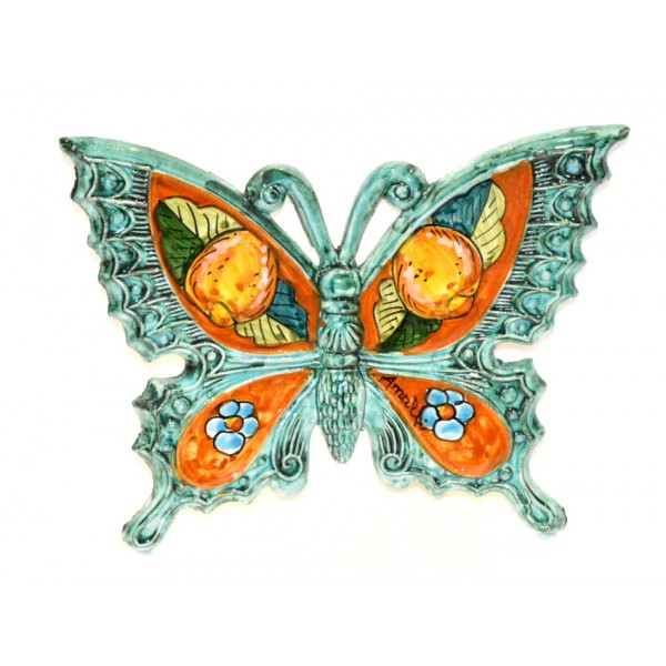 Butterfly Lemon Flower Aquamarine to hang (from 3,55 to 8,25 inches)