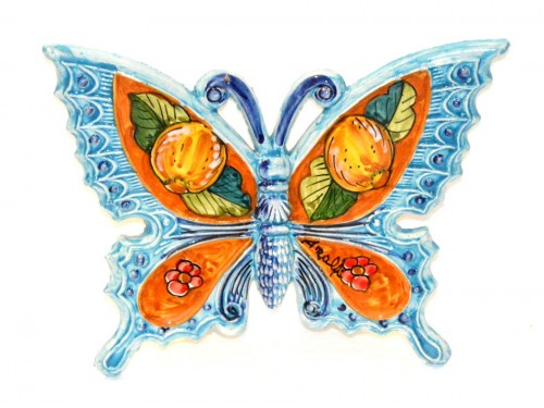 Butterfly Lemon Flower Light Blue to hang (from 3,55 to 8,25 inches)