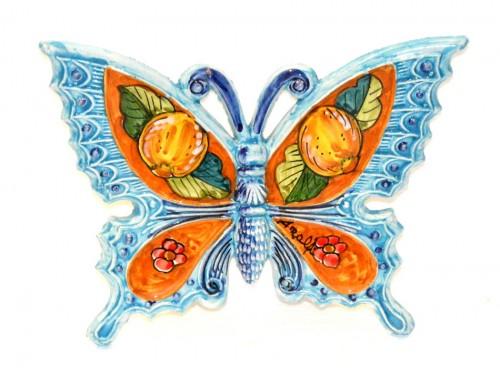 Farfalla Limoni Fiori celeste