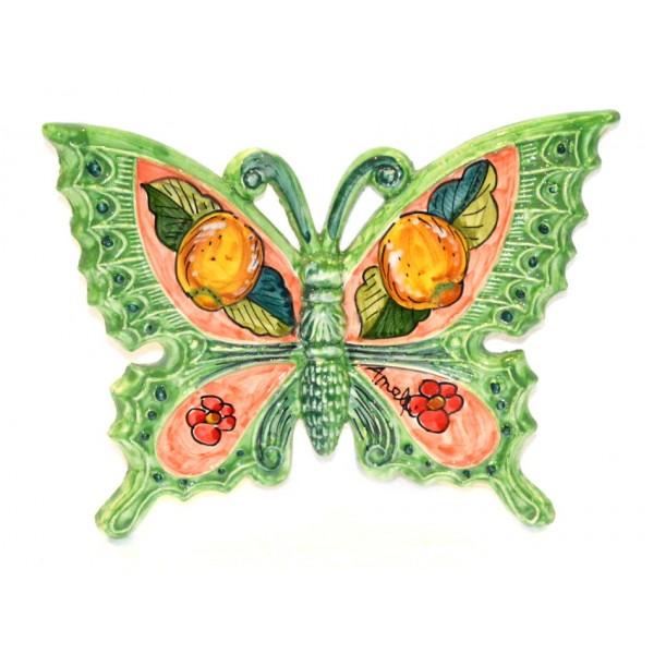 Farfalla Limoni Fiori verde
