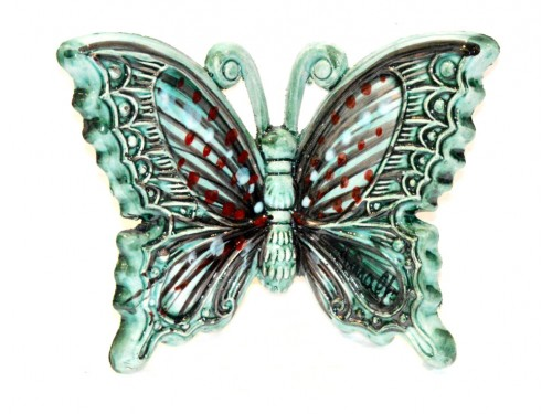 Butterfly Aquamarine to hang (from 3,55 to 8,25 inches)