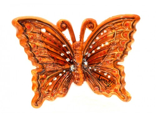 Butterfly orange to hang (from 3,55 to 8,25 inches)