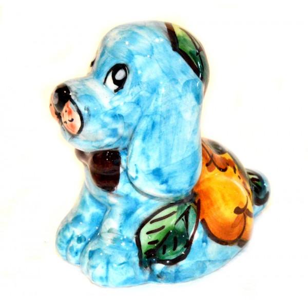 Dog Lemon light blue