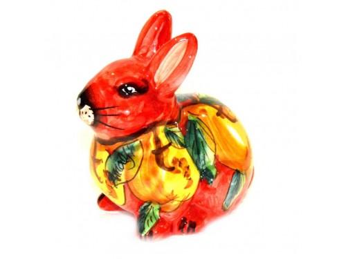 Coniglio Limoni Rosso 13cm