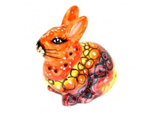 Coniglio arancione 13cm
