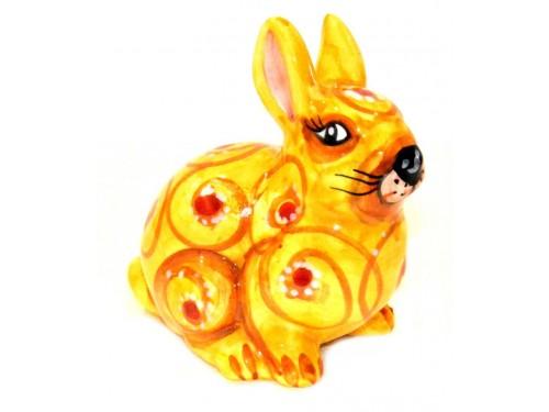 Coniglio giallo 13cm