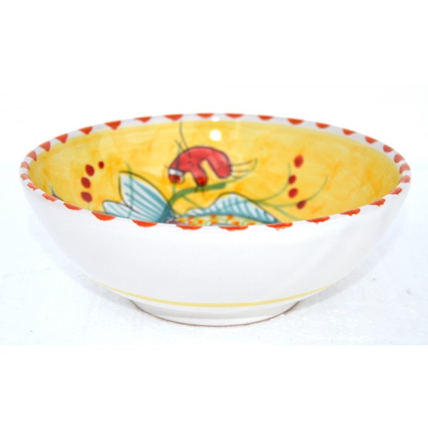 Soup bowl Fishes Yellow 7,05 inches