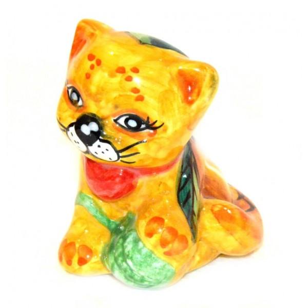 Gatto Limoni giallo 9 cm